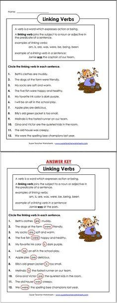 Circle The Linking Verb In Each Sentence Verbs Worksheet Worksheets Grammar