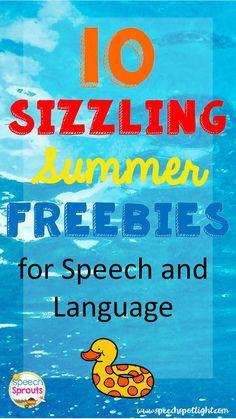 FREE Summer Speech Therapy Activities from Speech Spotligh by Speech Sprouts