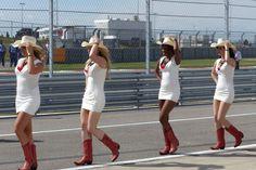 USGP Grid Girls 2014 Formula 1 Girls, Formula One, Pit Girls, Grid, White Dress, Running, Dresses, Fashion, Vestidos