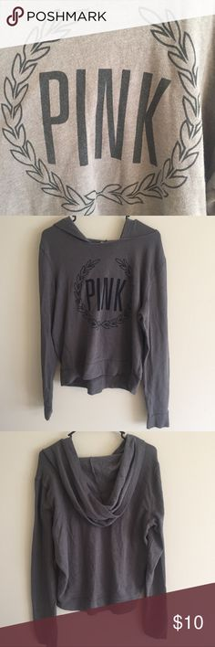 8700e8430020d Victoria Secret PINK Grey Hoodie Used Large Victoria Secret PINK grey Hoodie  Missing the tag but