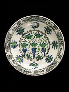 Dish      Place of origin:      Iznik, Turkey (probably, made)     Turkey     Date:      ca. 1585-1600 (made)     Artist/Maker:  ...