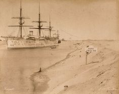 A ship in the Suez Canal.  IMAGE: RIJKSMUSEUM VIA EUROPEANA