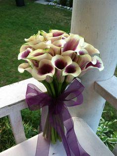 Purple Cala lily bouquet