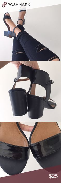"""‼️Price Drop‼️ 14th & Union Block Heels Super cute black block heels by 14th & Union from Nordstrom. I wore these about 3-4x and I love them, but sadly they're just too loose on me. The heels are approx 2"""" and it's so easy to walk in. Flaws are clearly shown. There is creasing and scratches on the panel from normal wear and there are two small knicks at the tip of the shoe. Any questions, don't hesitate to ask! Shoes Heels"""