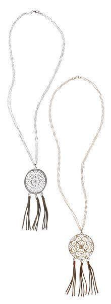Fringe Mandala Necklace