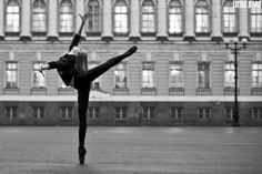 When you love ballet, you'll do it anywhere..