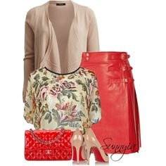 Monday by sunnyia on Polyvore featuring moda, VILA, Christian Louboutin and Chanel