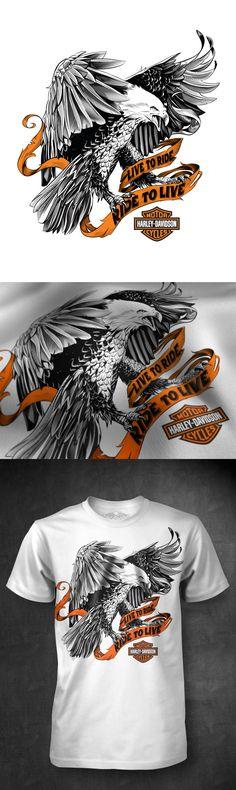 T-shirts designs for Harley Davidson by Abraham García