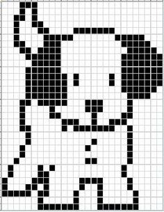 Little Scottie dog pattern chart, great for making crochet corner to corner blanket, or afgan. This could be used as a Graphgan pattern Knitting Patterns Free Dog, Knitting Charts, Loom Patterns, Knitting Stitches, Crochet Dog Sweater, Dog Sweater Pattern, Dog Pattern, Cross Stitching, Cross Stitch Embroidery