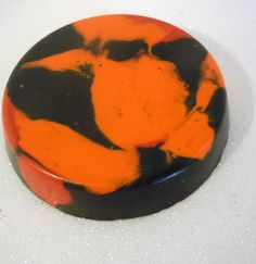 Halloween Black and Orange Crayon, Recycled, Upcycled. $1.50, via Etsy.