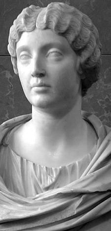 Faustina the Younger (130–175CE) wife of Emperor Marcus Aurelius. Marble, ca. 161CE. From the area of Tivoli. Louvre.