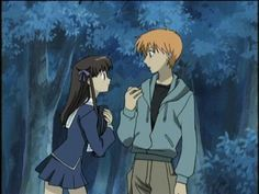 THIS is Tohru and Kyo...when he's in his human version. ;)