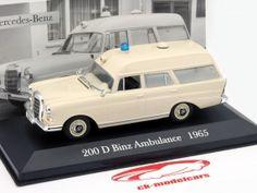 Mercedes-Benz 200 D Binz Year 1965 Ambulance 1:43 Altaya