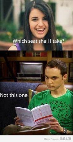 lmao. Becca Black and Sheldon Cooper. Seat Wars.