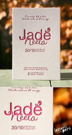 letterpers_letterpress_Jade_geboortekaartje