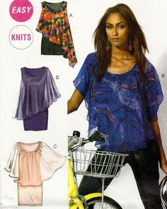 NEW!! Misses Size 16 - 26 Sewing Pattern McCall's 6704 Tops & Dresses with drape #McCalls 6704 #plus #sewing pattern