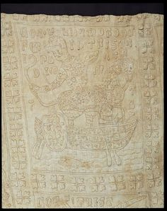 The Tristan quilt (Bed cover) | V&A Search the Collections. Bed cover. Sicily, Italy (made). Date: ca. 1360-1400 (made) Linen quilted and padded with cotton wadding with outlines in brown and white linen thread