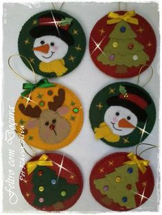 Christmas Angel Crafts, Christmas Picks, Easy Christmas Decorations, Christmas Ornaments To Make, Christmas Sewing, Felt Ornaments, Christmas Art, Christmas Projects, Christmas Patterns