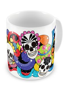 Caneca Caveira Mexicana - Uzinga  Compre a sua aqui http://www.uzinga.com.br/produto/caneca-caveira-mexicana/1502  R$25.90