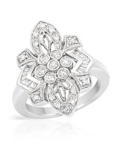 Diamonds beautifully designed in white gold.