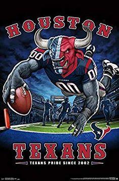 "Houston Texans ""Texans Pride Since NFL Theme Art Poster – Liquid Blue/Tren… – American Football Houston Football, Texas Texans, Houston Texans Football, Vikings Football, Nfl Football Teams, Houston Nfl, Football Names, Football Signs, Football Awards"