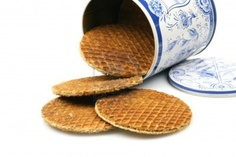 -dutch-waffles-in-a-colored-can-called-a-stroopwafel::one of my favourite biscuits!  Ooey gooey caramel inside and you place them atop your teacup and it all melts inside them....HEAVEN!