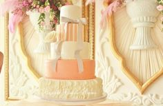 Ruffles and Stripes Wedding cake by Cupcake Couture Davao  Original cake design by Bella Cupcakes  www.facebook.com/cupcakecouturedavao