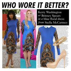 """""""Who Wore It Better: Kerry Washington or Britney Spears"""" by polyvore-editorial ❤ liked on Polyvore"""