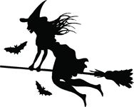 Make your car unique with our Witch Flying on a Broom stickers. This witch flying on a broom sticker is a single color vinyl cut out that is very easy to apply and will last up to 5 years in both hot and cold climates. A Broom, Halloween Stickers, Week 5, Car Detailing, Car Stickers, My Ride, Halloween Decorations, Witch, Cricut