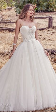 maggie sottero fall 2017 bridal strapless sweetheart neckline heavily embellished beaded bodice romantic princess ball gown a  line wedding dress chapel train (944) mv -- Maggie Sottero Fall 2017 Wedding Dresses