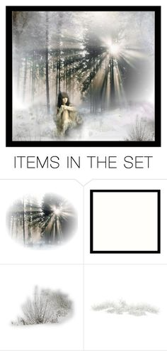 """""""Solitude and Snow"""" by kittiesugar ❤ liked on Polyvore featuring art"""