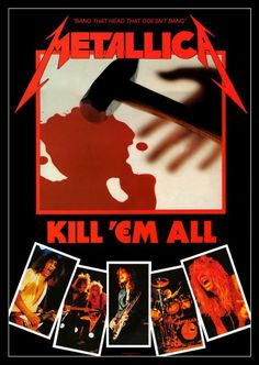 Metallica Album Covers, Metallica Albums, Best Rock Bands, Cool Bands, Heavy Metal, Master Of Puppets, Ride The Lightning, Band Wallpapers, Thrash Metal