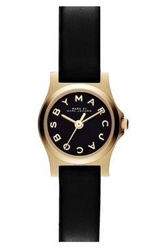 MARC BY MARC JACOBS 'Henry Dinky' Leather Strap Watch, 20mm available at #Nordstrom