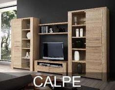 Kolekcja Calpe to nowoczesne meble dostępne są w dekorze Dąb Sonoma który idealnie odwzorowuje strukturę drewna. Charakterystyczne dla tej kolekcji są pogrubione wieńce górne oraz szerokie boki korpusów. Bookcase, Modern, Shelves, Furniture, Home Decor, Products, Glass Display Case, Antique Sofa, Trendy Tree