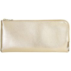 LEATHER PENCIL CASE GOLD (79 BRL) ❤ liked on Polyvore featuring home, home decor, office accessories, gold pencil case, leather pencil case, leather pencil pouch, gold office accessories and leather pen pouch