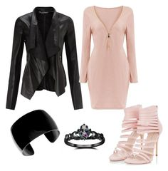 """dusty pink"" by jjbear on Polyvore featuring Miss Selfridge and Fidelity"