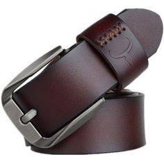 COWATHER Vintage style pin buckle cow genuine leather belts for men high quality mens belt cinturones hombre Leather Buckle, Leather Belts, Cow Leather, Leather Craft, Men's Belts, Vintage Stil, Vintage Pins, Men's Vintage, Metal Buckles