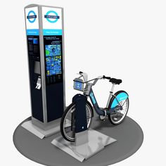 Barclays Cycle Hire Model available on Turbo Squid, the world's leading provider of digital models for visualization, films, television, and games. Low Poly Models, Gaming Computer, Street Furniture, London Street, 3d, Digital, Vehicles, Car, Outside Furniture