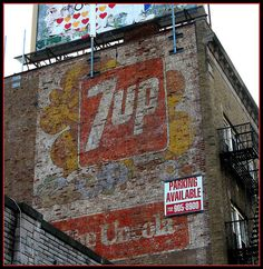 7 UP Ghost Sign on EXPLORE by Brooklyn Bridge Baby, via Flickr