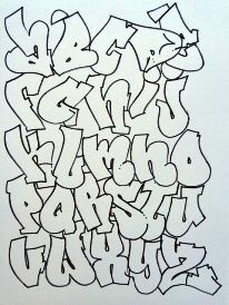 mr wiggles graffiti alphabet tear drop 1