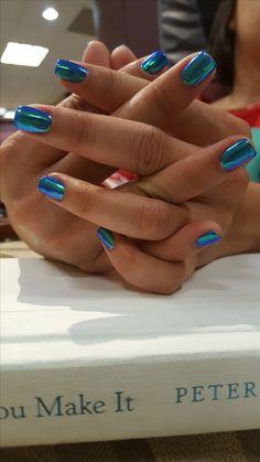 Beautiful Chrome Nails!! #chrome #chromenails #beautiful #beauty #gelnails