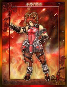 Zodiac Warrior: Aries by Epscillion