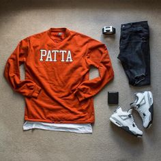 WEBSTA @ domhowlett - Fall TonesOutfit Grid @outfitgrid @dennistodisco //▪️ Jumper - @patta_nl ▪️ T-Shirt - H