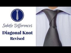 How to tie a tie: Diagonal Knot Best Instructions - YouTube