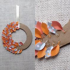 DIY Spring Wreath - real or paper leave and a glue gun.