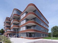 Built Environment, Balconies, Architecture, Apartments, Netherlands, Home Goods, Brick, Buildings, Multi Story Building