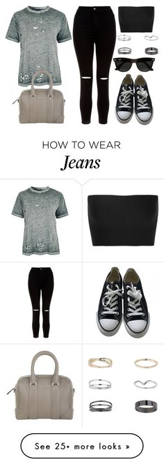 """""""Style #10912"""" by vany-alvarado on Polyvore featuring Topshop, New Look, Converse, Miss Selfridge, Givenchy, Calvin Klein Collection and Ray-Ban"""