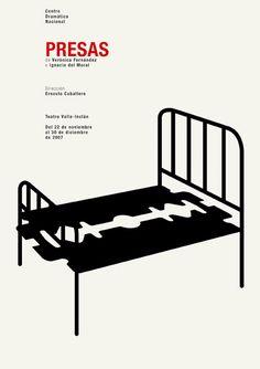 """PG321 """"Presas"""" Poster by Isidro Ferrer (2007)"""