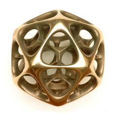 Vladimir Bulatov Sculpture Icosahedron IV