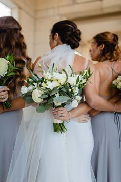 Flowers by Sisters Floral Design Studio www.sistersflowers.net Image by Lewis & Oak Photography #sistersfloraldesignstudio #weddingflowers #bridalbouquet #whiteroses #whiteivory Bridesmaid Bouquet, Wedding Bouquets, Bridesmaids, Wedding Flowers, Bridesmaid Dresses, Wedding Dresses, White Roses, Floral Design, Sisters